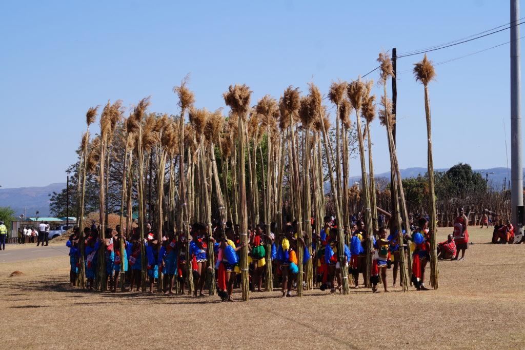 Der Umhlanga findet jedes an der Residenz der Ntombi Königinmutter statt
